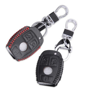 Pu Leather 3 Button Remote Smart Key Cover Case Holder Fit For Mercedes Benz