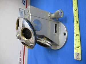 Unitron Japan Nosepiece Block Assembly Microscope Part As Pictured