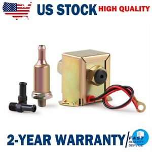 Electric Fuel Pump 12 Volt Solid State 2 5 To 4psi 90lph Petrol Facet Universal