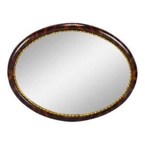 Vintage Oval Wall Mirror With Decorative Gilt Trim