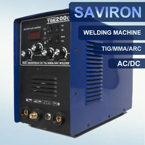 Ac dc Aluminum Argon Gas Welder Tig Mma Igbt Inverter Welding Machine 200amp