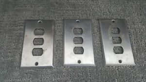 Vintage Gang Metal Outlet Cover Switch Plate