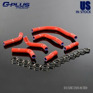 For Toyota Mr2 Sw20 1990 1995 Silicone Radiator Coolant Hose Clamps Kit Red