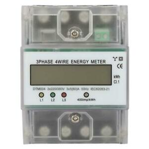 220 380v 5 80a Energy Consumption Digital Electric Power Meter 3 Phase 4p Kwh