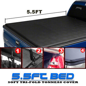 Tonneau Cover Soft Tri Fold Fit 2004 2014 Ford F150 Pickup Truck Crew Bed 5 5ft