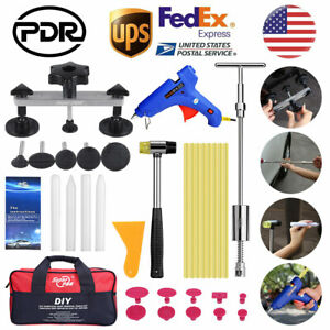 34 pdr Auto Body Paintless Dent Repair Hail Removal Slide Hammer Puller Tool Kit