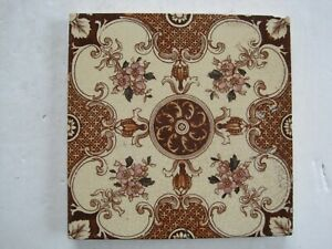 Antique Victorian Sherwin Cotton Print And Tint Aesthetic Floral Wall Tile