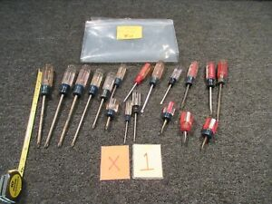 17 Craftsman Screwdriver Slotted Flat head Philips Wf Tool Stubby Driver Usa Lot