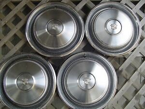 1970 70 Cadillac Cady Fleetwood Deville Hubcaps Wheel Covers Antique Vintage