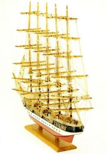 Deustchland Hamburg Clipper Ship Nautical Boat Wood Wooden Model