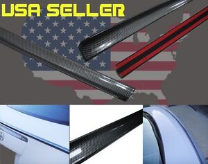 For 2007 2011 Subaru Wrx Sti 4d Carbon Look Trunk Lip Spoiler 08 09 10
