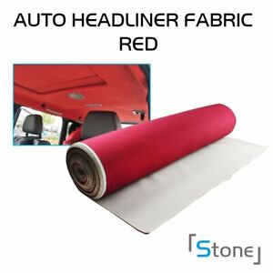 30 X60 Uncut Headliner Fabric Upholstery Auto Marine Backed Foam Wine Red