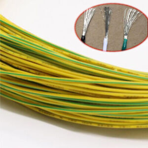 Yellow Green Equipment Wire Diy Electrical Wire Flexible Cable Ul1015 14 24awg