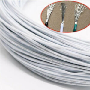 White Equipment Wire Diy Electrical Wire Flexible Cable Ul1015 8 10 12 24awg