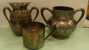 Vintage James W Tufts Quadruple Silver Plate 1949 Middletown 585 Plate Other