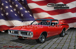1971 Dodge Charger American Muscle Print