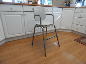 Vtg Mid Century Stool Cosco Child Booster Chair Cracked Ice Rare 50 S