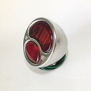 1928 31 Ford Model A R H Tail Light With Stop Lens Pol S S Hot Rod Truck