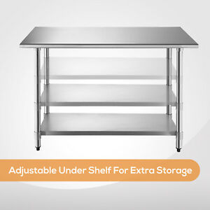 Dakavia Commercial Stainless Steel Work Food Prep Table Kitchen 24 X 48