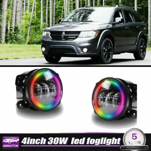 2x 4inch Led Fog Lights Drl Halo Driving Lamps Offroad For Dodge Journey Magnum
