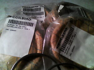 Qty 4 Heidelberg Cylinder Thrust Assemblies 00 550 0096 W 2 Spacer Rings