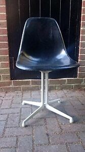 Original Eames Herman Miller Black Chair Shell W La Fonda Base Modernist Design