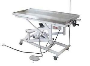 New Electric Lift Veterinary Surgical Operating Table Dh11 Stainless Tilt Top