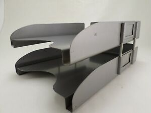 Legal Size Vtg Industrial Gray Metal Desk File Tray In out All steel Equipment