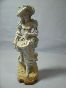 Fern Japan Victorian Lady Figurine Handpainted