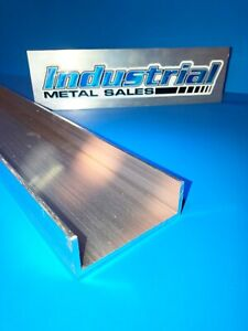 3 X 1 X 12 long X 1 8 Thick 6061 T6 Aluminum Channel 3 Wide Channel