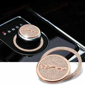 Ice Out Bling Crytal Emblem Gear Shift Knob Badge For Jaguar Xj Xe Xf F Pace