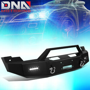 For 2010 2014 Ford F150 Raptor Heavy Duty Front Winch Bumper led Fog Lamp d ring