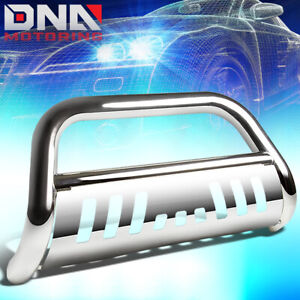 For 2018 2019 Jeep Wrangler 3 stainless Steel Bull Bar Push Bumper Grille Guard