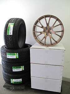 22 New Jeep Grand Cherokee Copper Finish Hellcat Style Wheels Rims With Tires
