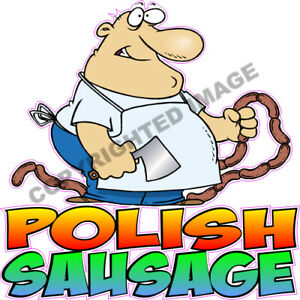 Polish Sausage Concession Food Cart Hot Dog Truck Stand Vinyl Weatherproof Decal
