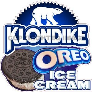 Oreo Ice Cream Klondike Concession Fun Food Cart Truck Waterproof Vinyl Decal