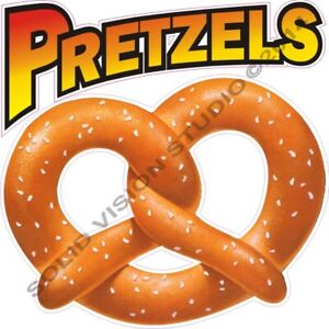 Pretzels Concession Food Truck Cart Hot Dog Stand Weatherproof Vinyl Menu Decal