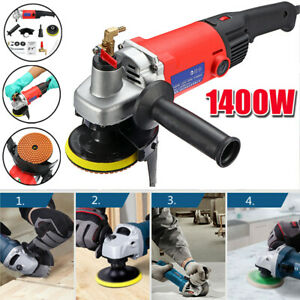 1400w Wet Polisher Grinder 4 Diamond Polishing Pad For Concrete Marble Granite