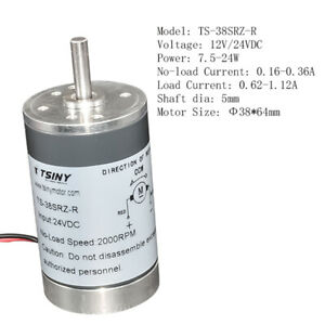 Dia 38mm Small Electric Dc Motor 12v 24volt 2000 3000 4000 5000rpm