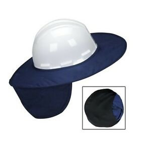 Lot Of 5 Miracool Stow away Hard Hat Shade Blue 899b Heat Stress Protection