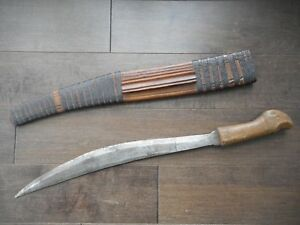 Antique Tribal Knife Machete Indonesia Or Philippines