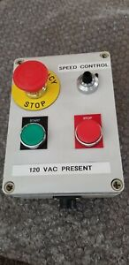 Emergency Stop Speed Control Operational Box