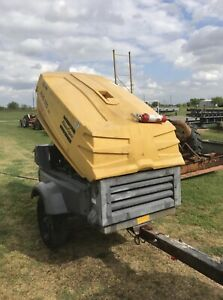 Atlas Copco 185 Cfm Towable Air Compresso John Deere Engine Ready To Work