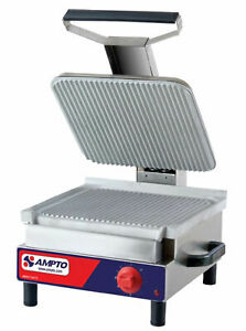 Ampto Single Sandwich Grill 12 X 13 3 4 Ribbed