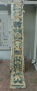A 10 Feet Long Wool Silk Tapestry Panel With King