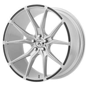 20x9 35 Asanti Black Abl 13 Brushed Silver W carbon 5x120 Wheels Rims qty 4