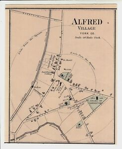 1888 Alfred Village Maine Colby Atlas Map W Family And Place Names