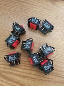 9pc Lot New 260413e Switch Rocker Pdt 10a 250v