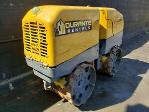 Wacker Rt82 Trench Roller Compactor With Remote Only 833 Hours Ready To Work