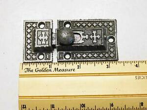 Antique Cupboard Cabinet Latch In Decorative Cast Iron 1880 S Marked R